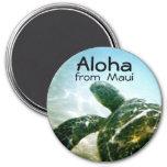 Tortuga de mar de Maui de la hawaiana Imán Redondo 7 Cm