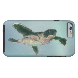 Tortuga de mar del bebé funda para iPhone 6 tough