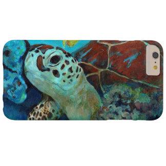 Tortuga de mar del bebé funda de iPhone 6 plus barely there