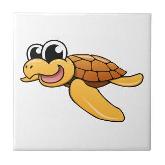 Tortuga de mar del dibujo animado tejas  cerámicas