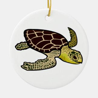 Tortuga de mar del necio ornamento para arbol de navidad