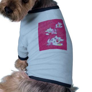 Tortuga de mar en fondo rosado camisas de mascota