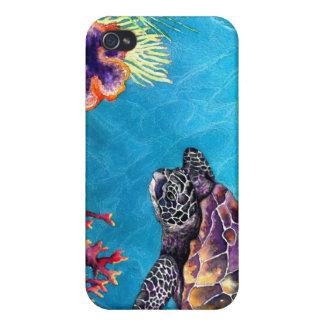 Tortuga de mar iPhone 4/4S carcasa