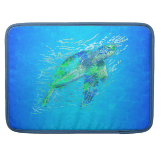 Tortuga de mar funda para macbook pro