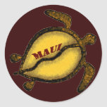 Tortuga de mar Maui Pegatina Redonda