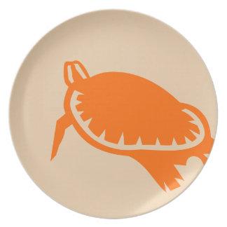 Tortuga de mar plato de cena