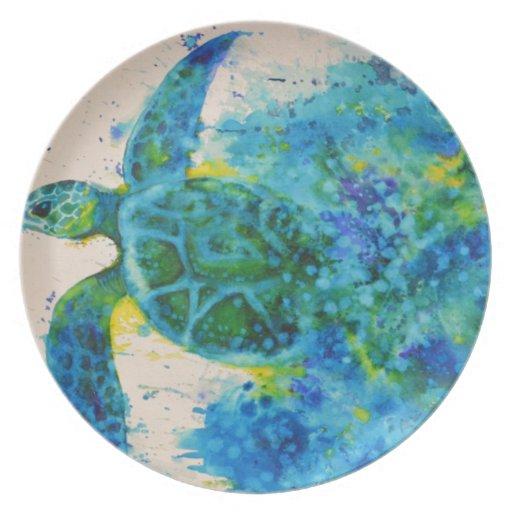 tortuga de mar platos