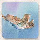 tortuga de mar posavasos de bebida