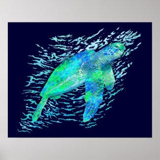 Tortuga de mar póster