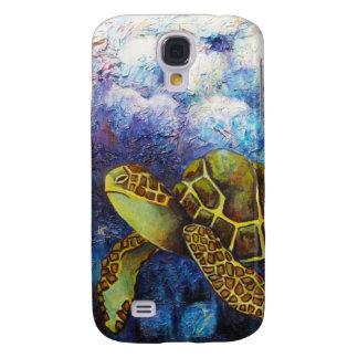 Tortuga de mar, productos del arte de la textura funda para galaxy s4