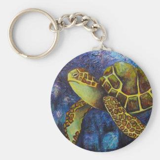 Tortuga de mar, productos del arte de la textura llaveros personalizados