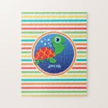 Tortuga de mar; Rayas brillantes del arco iris Puzzles Con Fotos