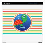 Tortuga de mar; Rayas brillantes del arco iris Skin Para El MacBook Air