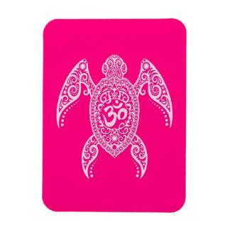 Tortuga de mar rosada de OM Imanes Rectangulares