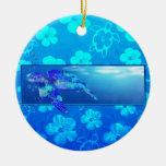 Tortuga de mar subacuática adornos