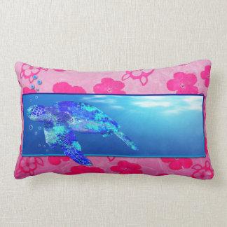 Tortuga de mar subacuática cojín