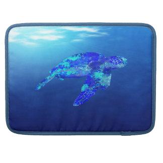 Tortuga de mar subacuática fundas macbook pro