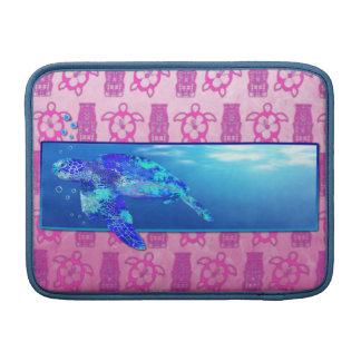 Tortuga de mar subacuática fundas para macbook air