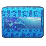 Tortuga de mar subacuática fundas para macbook pro