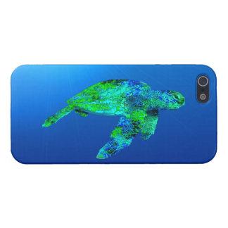 Tortuga de mar subacuática iPhone 5 cobertura