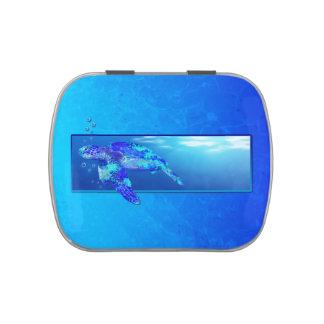 Tortuga de mar subacuática frascos de caramelos