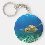 Tortuga de mar subacuática llaveros personalizados