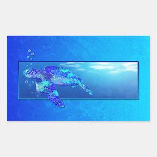 Tortuga de mar subacuática rectangular altavoz