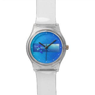 Tortuga de mar subacuática reloj