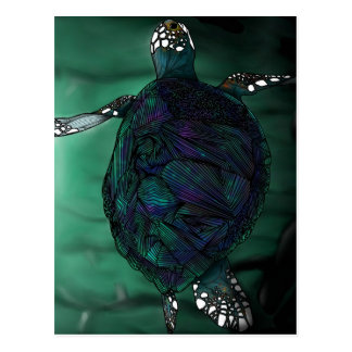 Tortuga de mar tarjeta postal