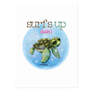 Tortuga de mar tarjetas postales