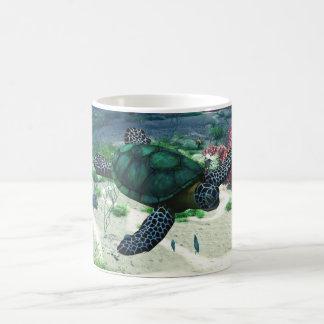 Tortuga de mar taza mágica