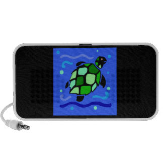 Tortuga de mar tribal laptop altavoces