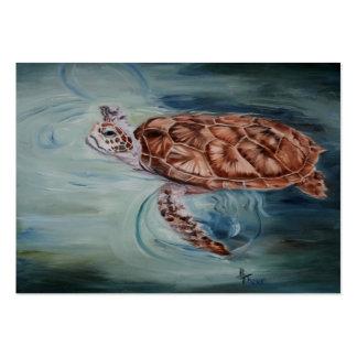 Tortuga de mar verde ArtCard Tarjetas De Visita Grandes