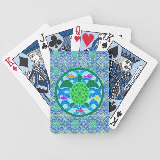 Tortuga de mar verde baraja cartas de poker