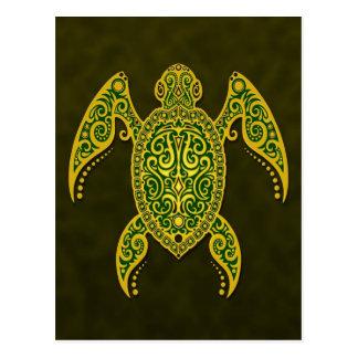 Tortuga de mar verde compleja postales