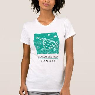 Tortuga de mar verde de Hawaii - bahía de Hanauma Playera