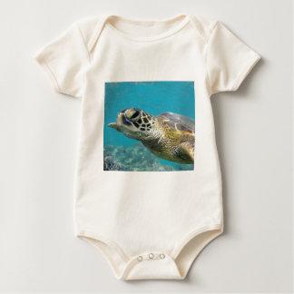 Tortuga de mar verde de Hawaii Body Para Bebé