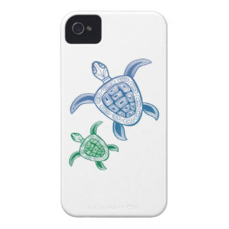 Tortuga de mar verde de Hawaii Carcasa Para iPhone 4