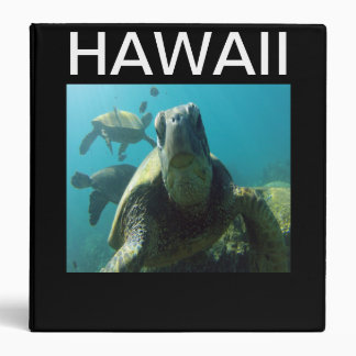 """Tortuga de mar verde de Hawaii Carpeta 1 1/2"""""""