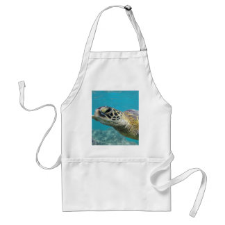 Tortuga de mar verde de Hawaii Delantal