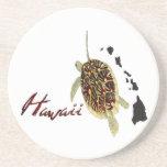 Tortuga de mar verde de Hawaii Posavaso Para Bebida