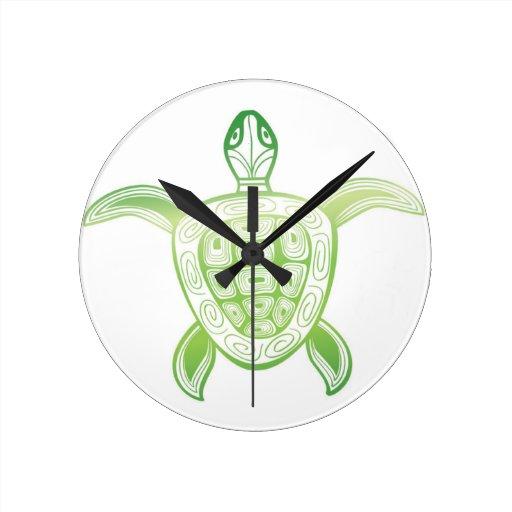 Tortuga de mar verde de Hawaii Reloj De Pared
