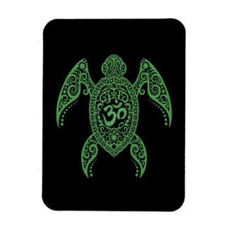 Tortuga de mar verde de OM en negro Iman