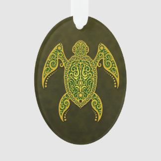 Tortuga de mar verde de oro compleja