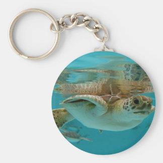 Tortuga de mar verde del bebé llavero personalizado