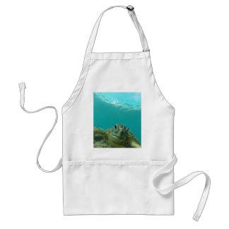 Tortuga de mar verde delantal