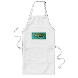 Tortuga de mar verde delantal largo