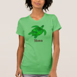Tortuga de mar verde hawaiana camiseta