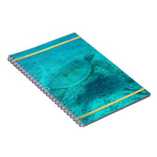 Tortuga de mar verde hawaiana note book