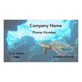 Tortuga de mar verde tarjetas de visita